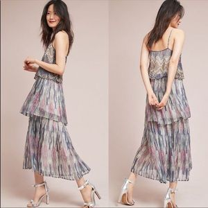 Anthropologie Josie Tiered Maxi dress NWOT 12